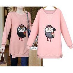 GRACI - Owl Applique Sweatshirt