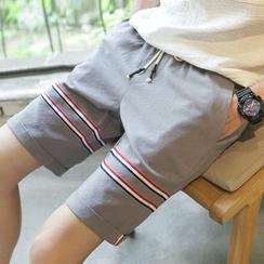 ZZP HOMME - Stripe Linen Shorts