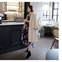 Miamasvin - Slit-Cuff Double-Breasted Coat
