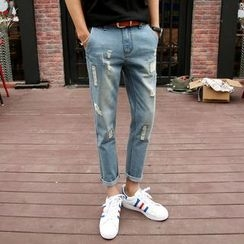 Keerme - Distressed Slim-Fit Jeans