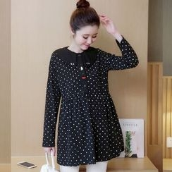 Ohayo - Maternity Polka Dot Long Shirt