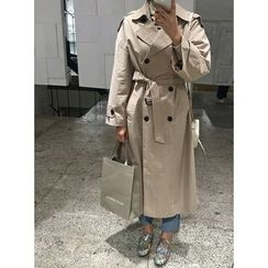 STYLEBYYAM - Double-Breasted Trench Coat