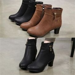 SHOES ROOM - Zip-Detail Ankle Boots