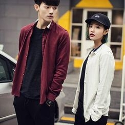 Evolu Fashion - Couple Matching Contrast Collar Shirt