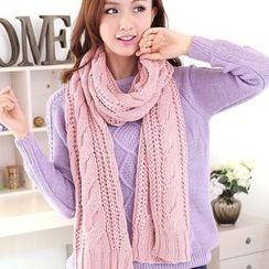 Kalamate - 羅紋長款針織圍巾