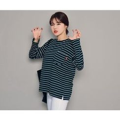 HOTPING - Striped Cotton Top