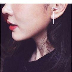 Zatanna - Rhinestone Non-Matching Bar Earrings