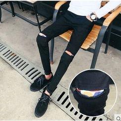 Zeesebon - Ripped Skinny Jeans