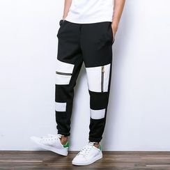 Besto - Color Block Sweatpants