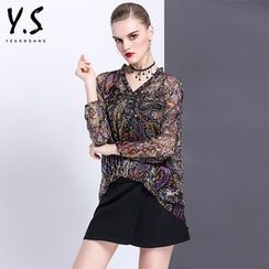 Y:Q - 圖案V領襯衫
