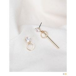PINKROCKET - Rhinestone Drop Earrings