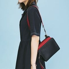 Heynew - Contrast Trim Box Shoulder Bag