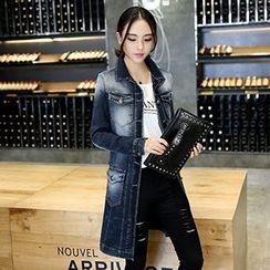 Jiuni - Long Denim Jacket