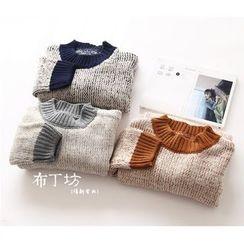 布丁坊 - 撞色毛衣