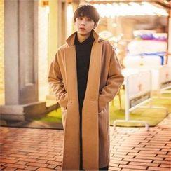 TOMONARI - Notched-Lapel One-Button Long Coat