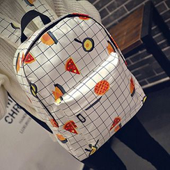 Youme - Print Plaid Backpack