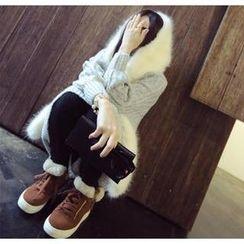 DreamyShow - Faux Fur Hooded Scarf