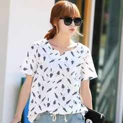 Lemonana - Feather Print T-Shirt