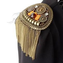 Trend Cool - Gemstone Tassel Shoulder Badge