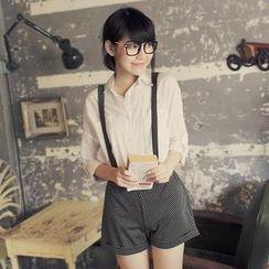 Tokyo Fashion - Polka Dot Brace Shorts with Straps