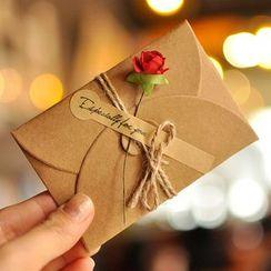 Orange Affair - Kraft Paper Floral Envelope