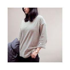 MASoeur - Round-Neck Stripe T-Shirt