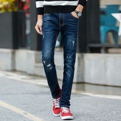 Denimic - Ripped Slim Fit Jeans