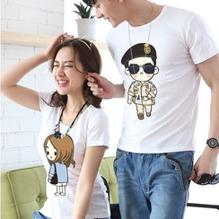 Azure - Couple Matching Print T-Shirt