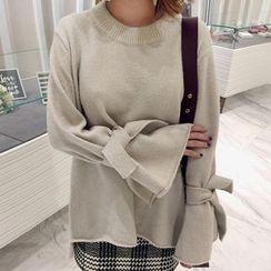 Wild Ivy - Tie Cuff Chunky Sweater