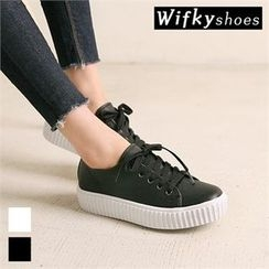 Wifky - Platform Lace-Up Sneakers