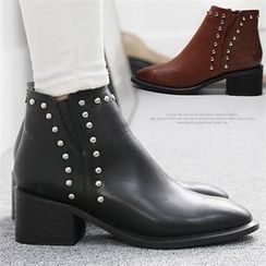 Reneve - Chunky-Heel Studded Ankle Boots