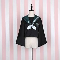 GOGO Girl - Sailor Collar Bell-Sleeve Top / Skirt