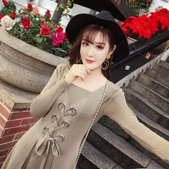 RUI - Long-Sleeve Knit Midi Dress