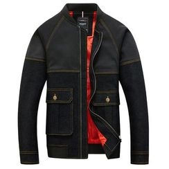 RUYA - Paneled Pocket-Accent Zip Jacket