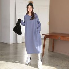 PPGIRL - Pocket-Detail Fleece-Lined Pullover Dress