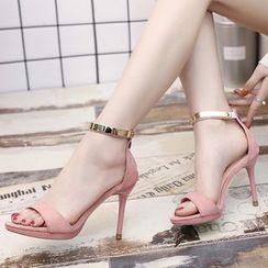 Wello - Ankle Strap High Heel Sandals
