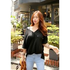 REDOPIN - Cotton V-Neck T-Shirt