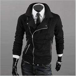 WIZIKOREA - Asymmetric Zip Jacket