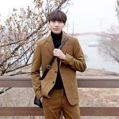 Seoul Homme - Notched-Lapel Single-Breasted Jacket