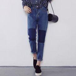 Bloombloom - Panel Straight Jeans