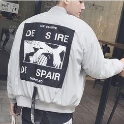 ZZP HOMME - Printed Back Bomber Jacket