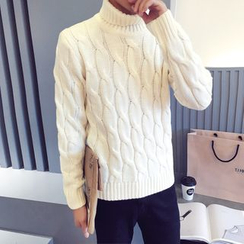 Breeson - Cable Knit Turtleneck Sweater