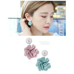Miss21 Korea - Flower Dangle Earrings