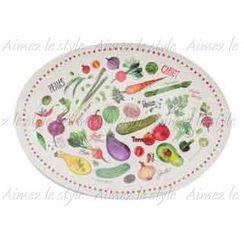 Aimez le style - Aimez le style Oval Plate Colorful Veggie
