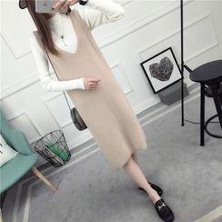 Loytio - Sleeveless Knit Midi Dress