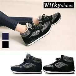 Wifky - Hidden-Heel Faux-Fur Lined Sneakers