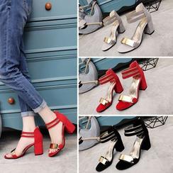 YIVIS - 粗跟凉鞋
