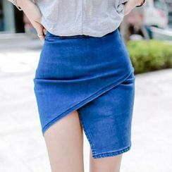 Isadora - 斜擺牛仔短裙