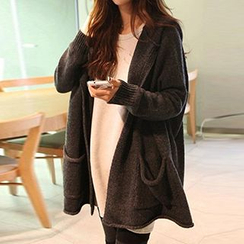 FR - Open Front Hooded Cardigan