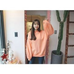 Envy Look - Mock-Neck Puff-Sleeve Sweatshirt